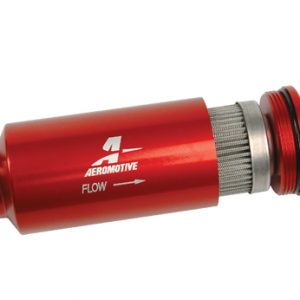 100 Micron, ORB-10 Red Fuel Filter
