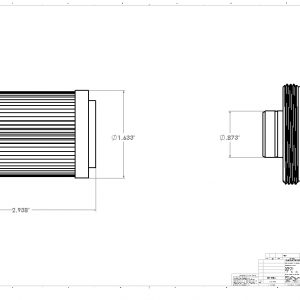 100-M Stainless Element: ORB-10 Filter Housings